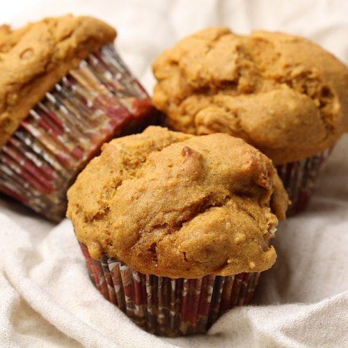 Image of gluten-free vegan pumpkin spice muffins