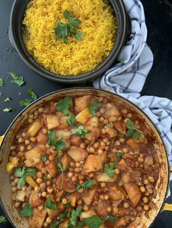 Lebanese Inspired Potato and Chickpea Curry