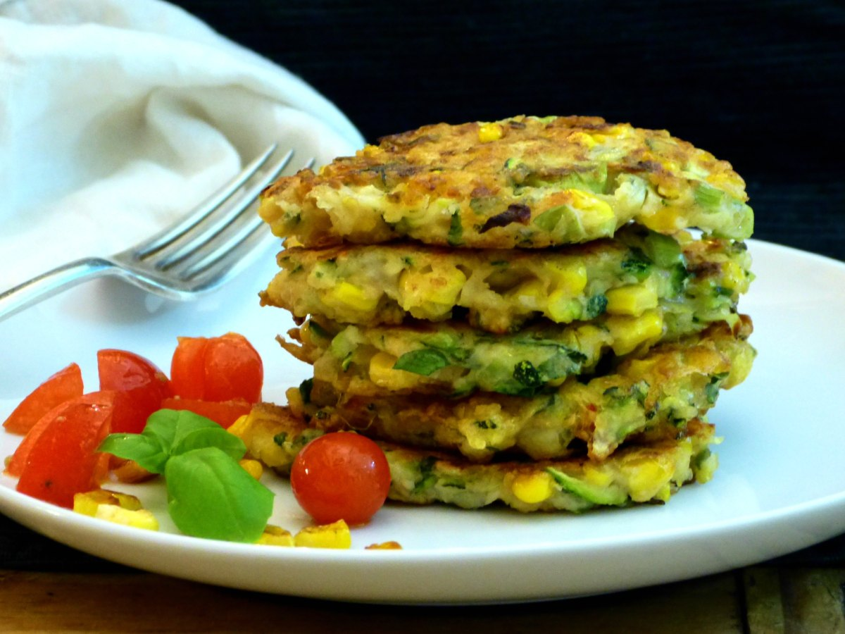Sweet Corn & Courgette Fritters