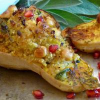 Butternut Squash with Sage & Chickpea Stuffing