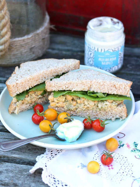 Vegan Chickpea 'Tuna' Sandwiches.