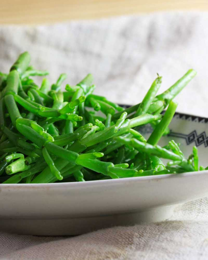 Samphire on a plate