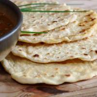 Easy Vegan Chickpea Flour Flatbreads.