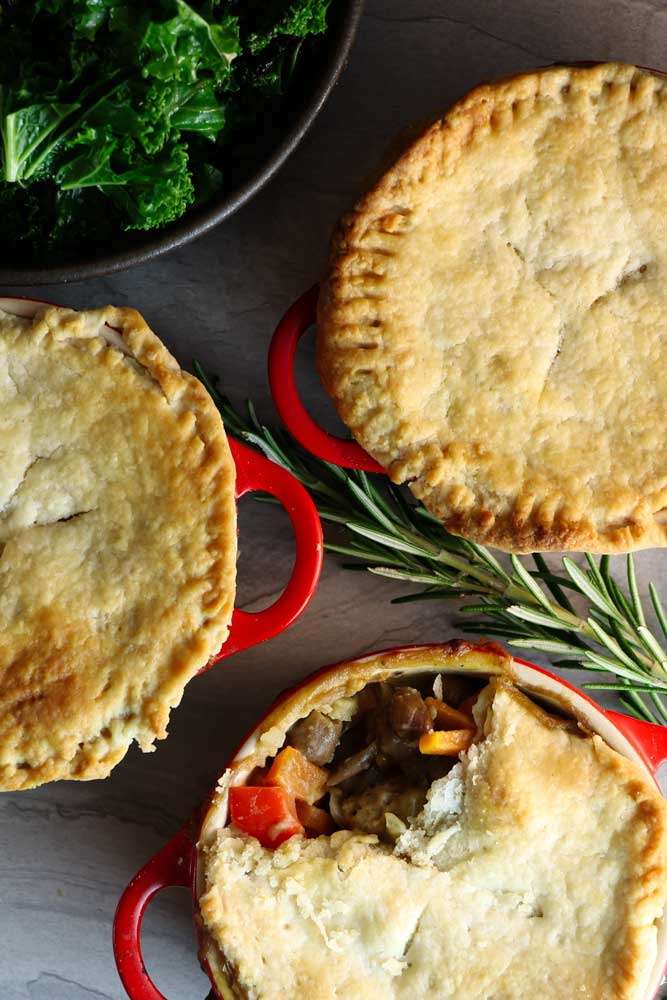 Chickenless Pot Pies