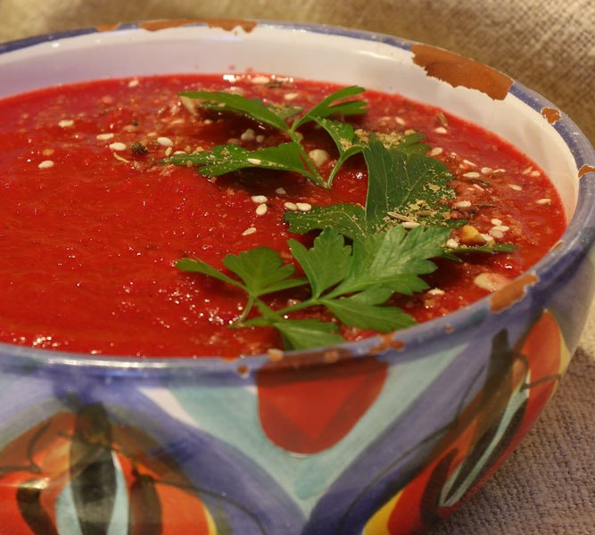 Roasted Beetroot & Tomato Soup