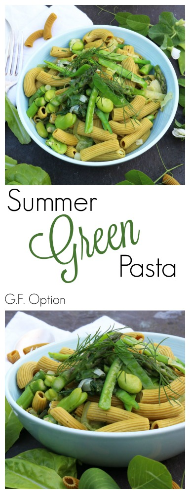 Summer Green Pasta Pinterest