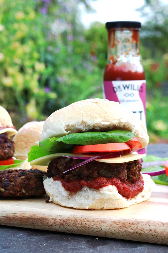 Amazing Vegan BBQ-able Bean Burgers!