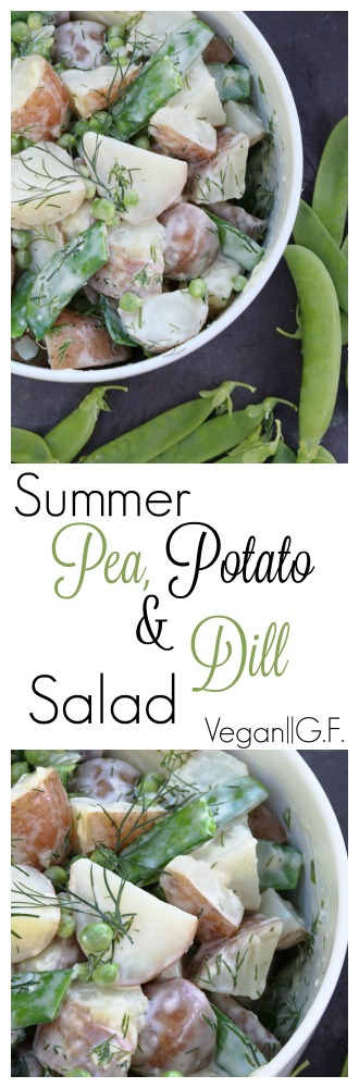 Summer Potato, Pea and Dill Salad pinterest