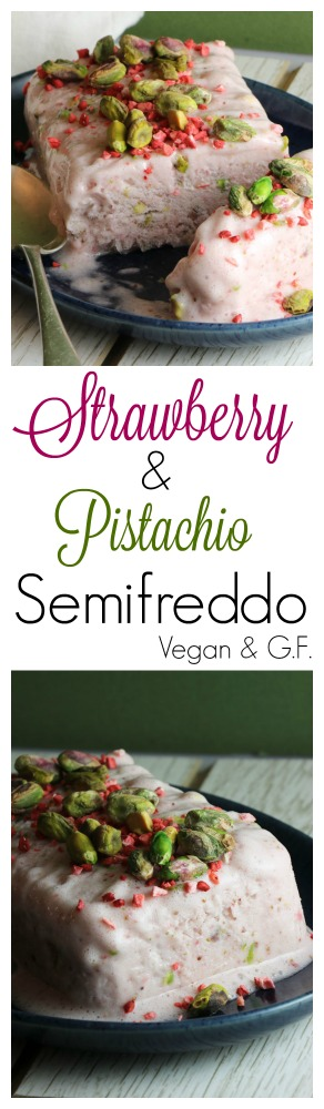 Strawberry & Pistacio Semifreddo Pinterest