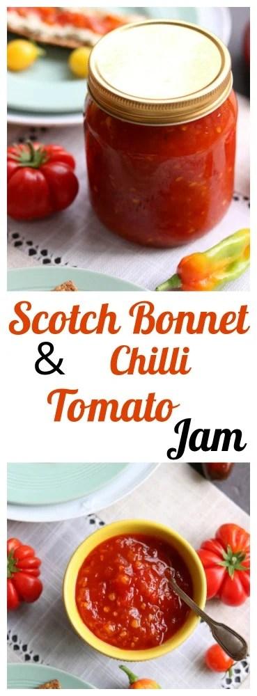 Scotch Bonnet Chilli & Tomato Jam Pinterest pin