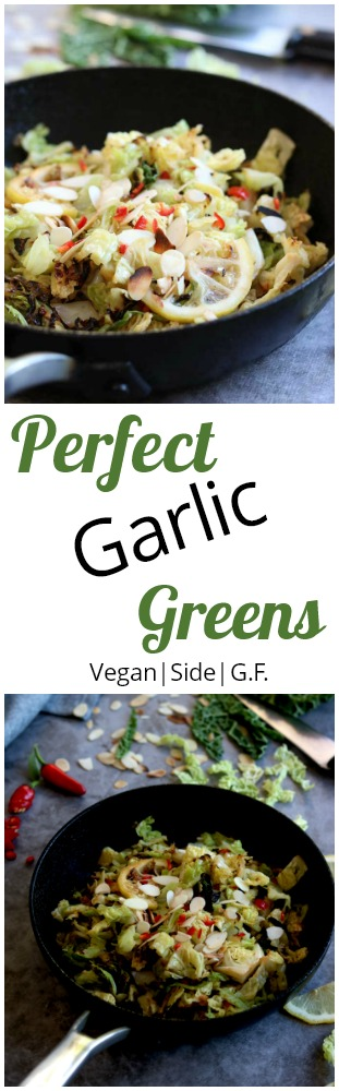 Perfect Garlic Greens for Pinterest