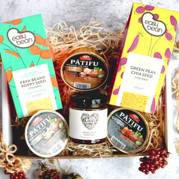 Vegan Christmas Pate Box with contents