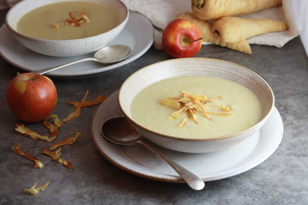 Bowl of parsnip and apple soup