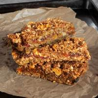 Apricot, Date and Walnut Layer Bars