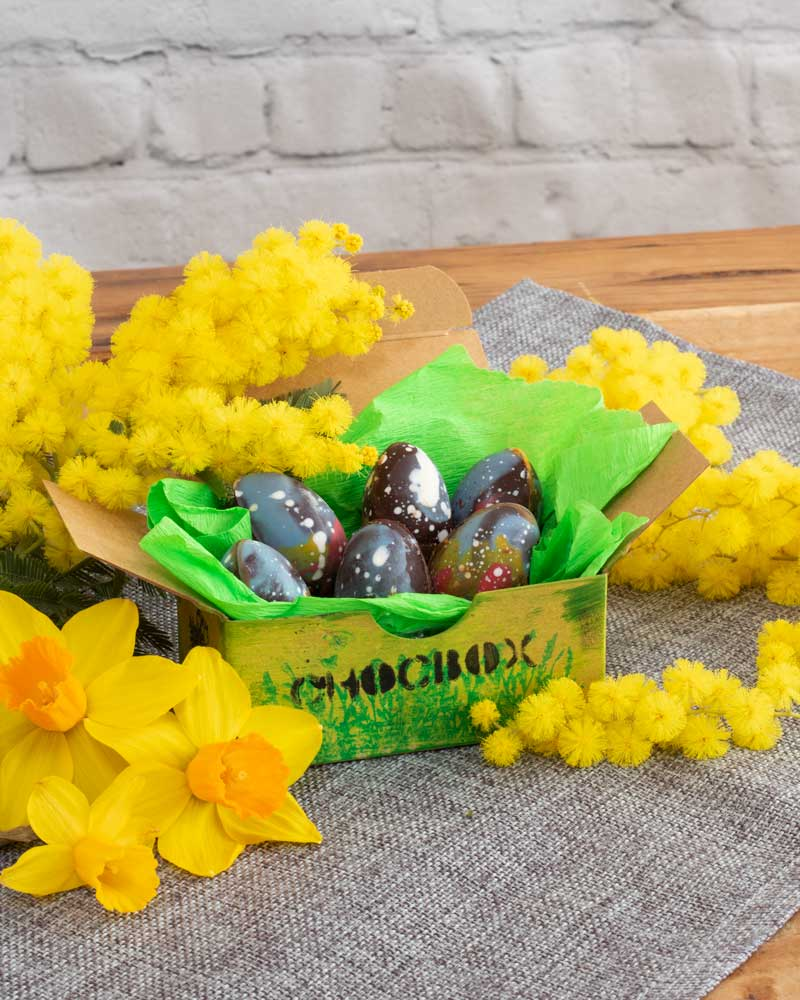 Filled Choc Box Easter Eggs