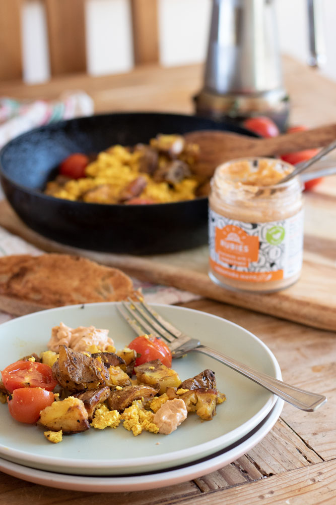 Spicy Breakfast Hash Scramble for Stop Food Waste Day