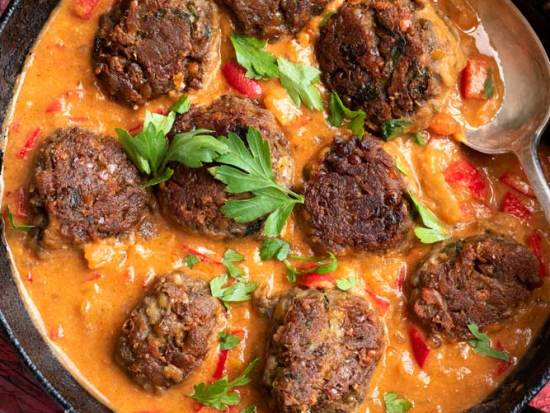 Lentil Kofta's in creamy curry sauce