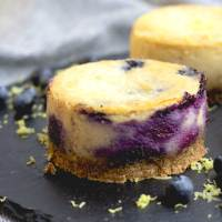 Vegan Lemon and Blueberry Baked Cheesecake (gluten free)