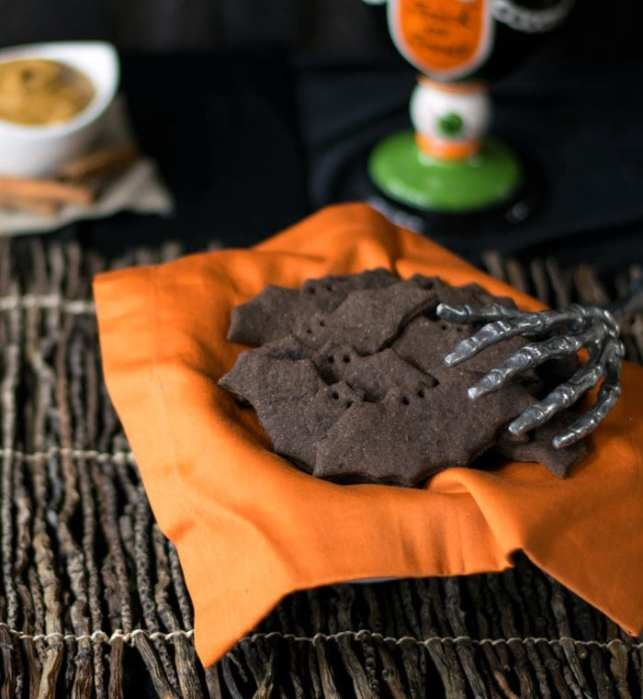 Vegan Chocolate Biscuits in a bat shape