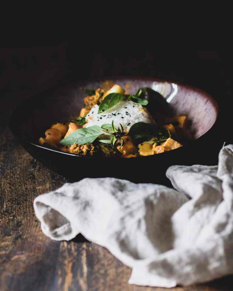 Eine woche eine liebe Massaman Curry mit Jasminreis