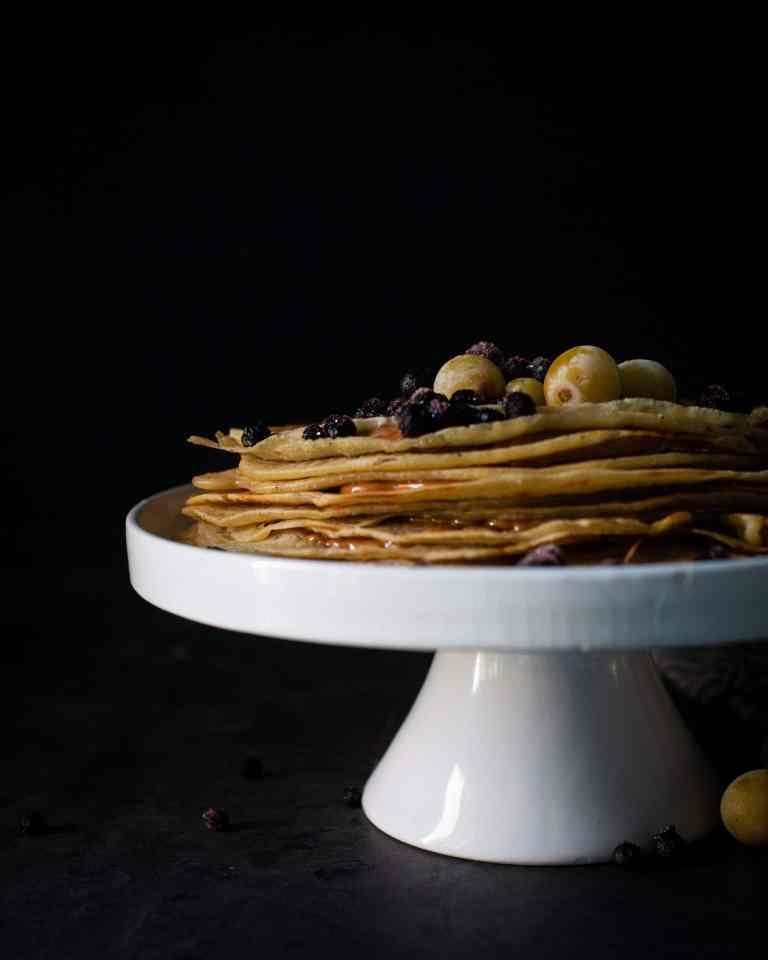 Vegane Crêpes Torte veganer Kuchen pallatschninken
