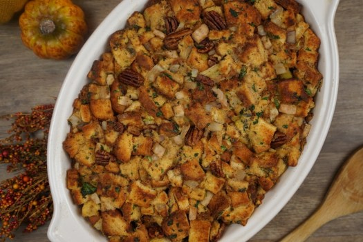 Pecan and Pear-Bourbon Stuffing