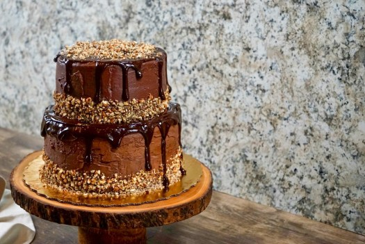 Chocolate Tiered Cake with Ganache
