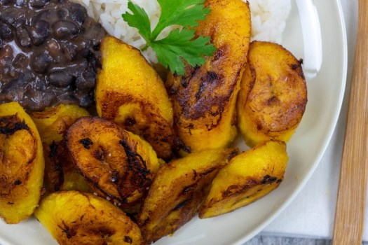 Maduros-Fried Sweet Plantain - The Vegan Rhino