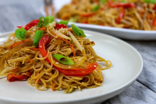 Chinese Noodle Dish - The Vegan Rhino
