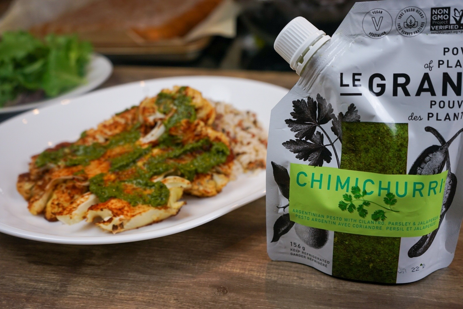 Cauliflower Steaks with Le Grand Chimichurri Sauce