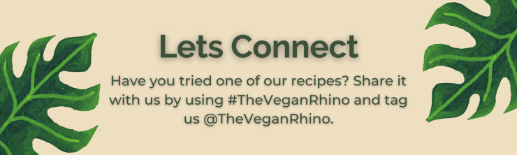 Lets Connect banner - The Vegan Rhino