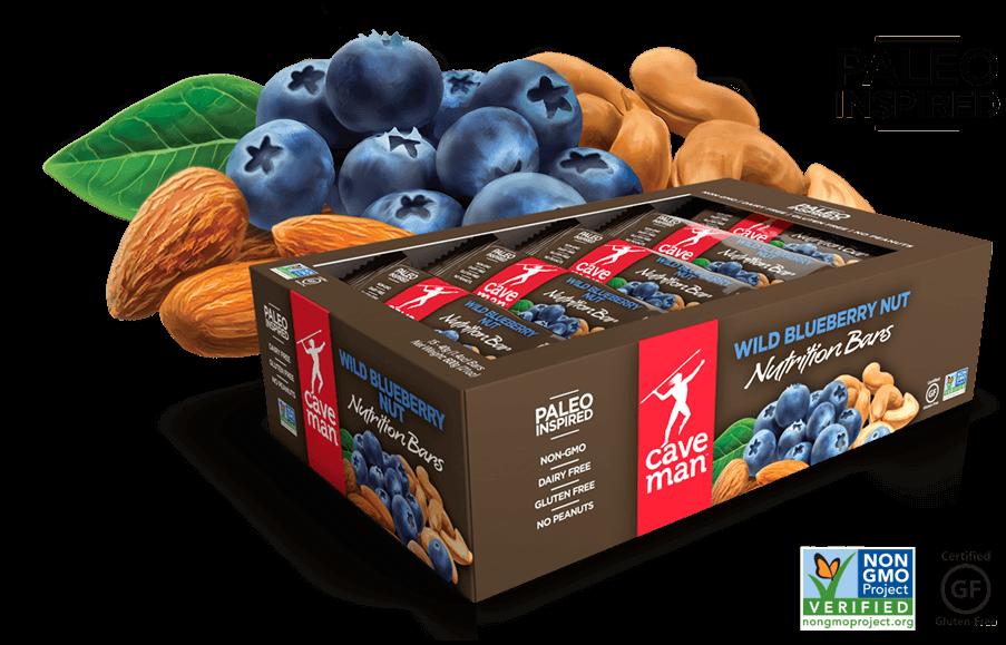 CaveMan Paleo Nutrition Bar Review – Wild Blueberry Nut ...