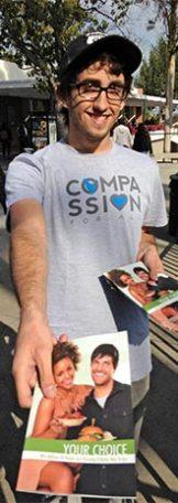 Vegan Outreach Leafleter (Photo Credit: Vegan Outreach)