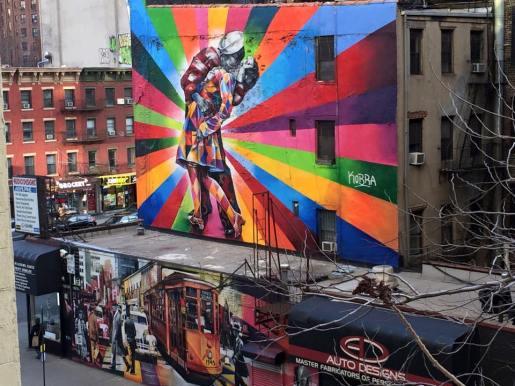 Street art along Highline Park