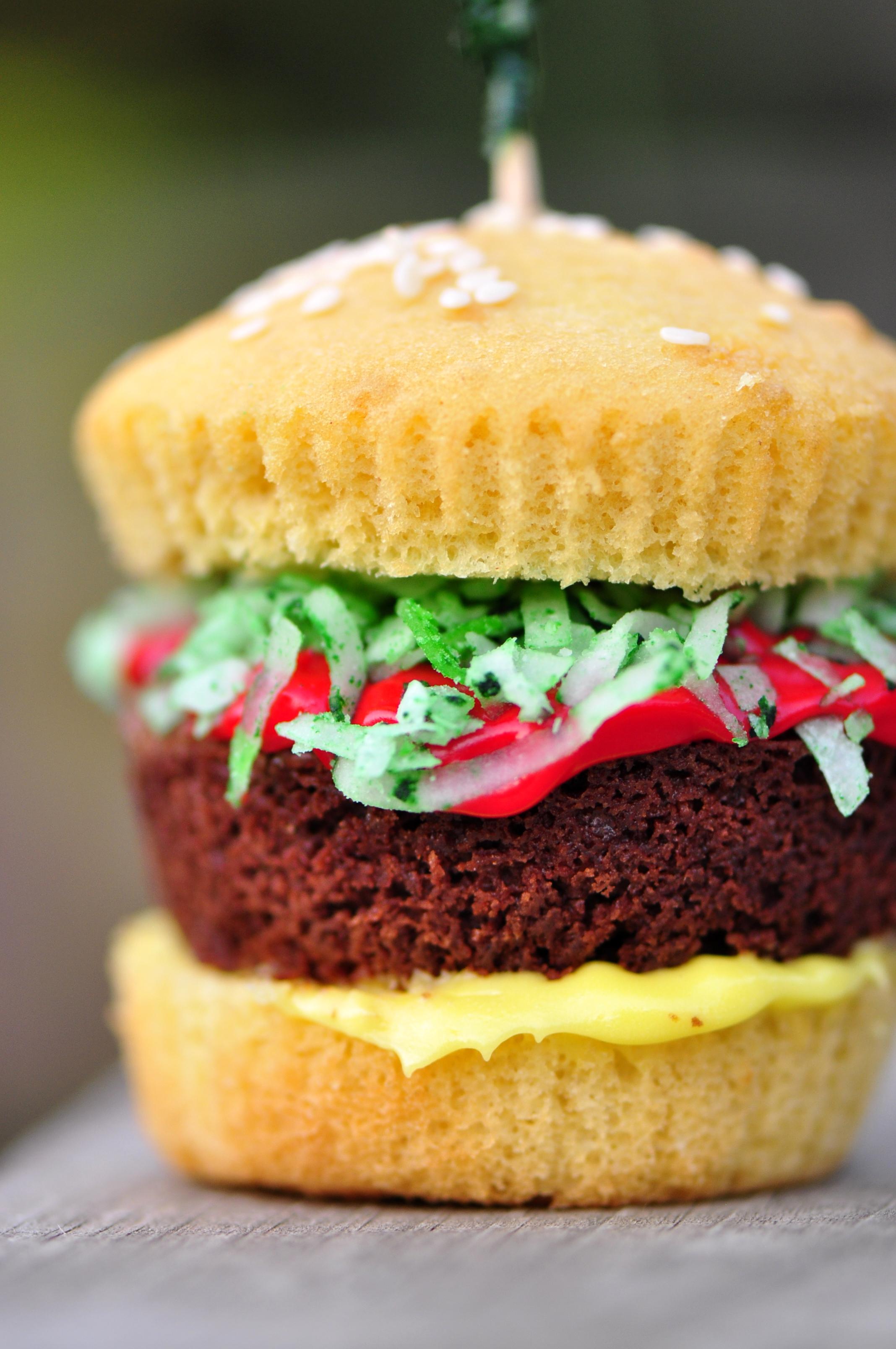 Hamburger Cupcakes The Vegetarian Ginger