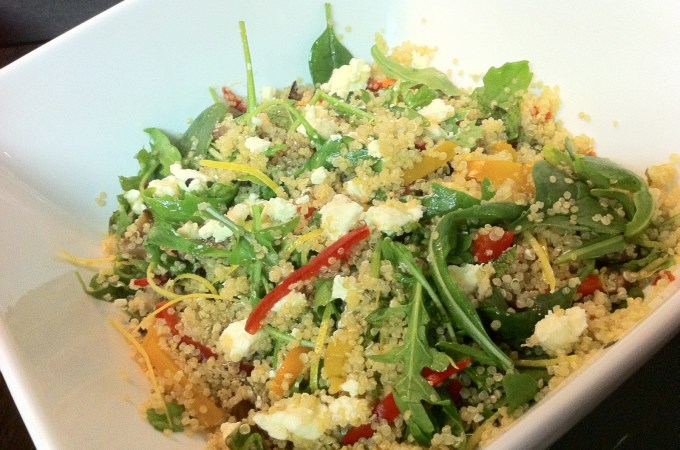Quinoa, Antipasto and Goat's Cheese Salad