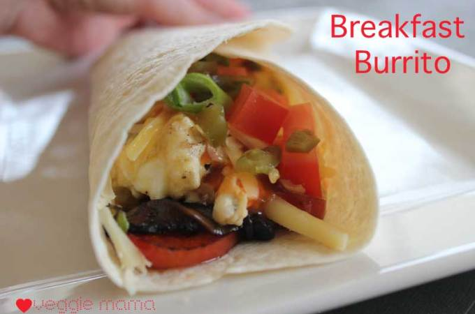 Breakfast Burrito – an excellent hangover breakfast.