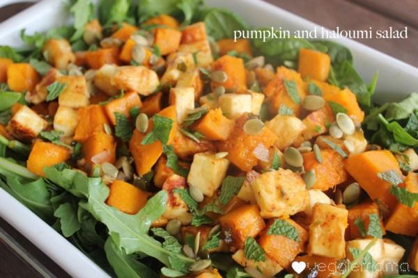 pumpkin and haloumi with honey jalapeno copy