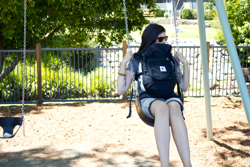 taking a drive big kid swing