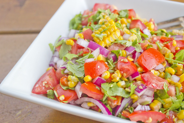 roasted corn salsa | Veggie Mama