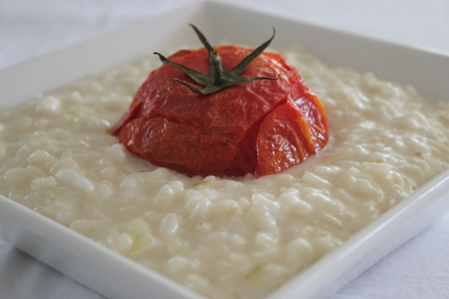 Risotto with goat cheese and roasted tomatoes | Veggie Mama