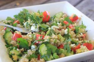 Herby lemon quinoa salad