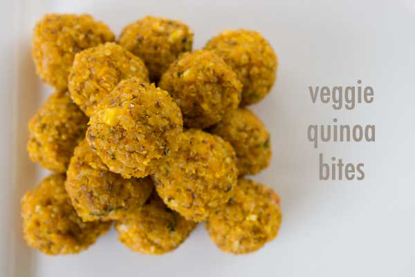 hidden veggies in little quinoa balls just right for small hands. We put ours in school lunchboxes and they go down a treat! | Veggie Mama
