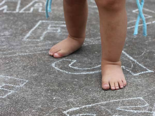 Toddler Activity: outdoor fun with Alphabet Jump
