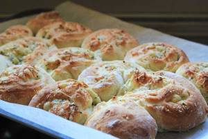 Three-Cheese scrolls