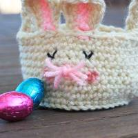 Free Crochet Pattern: Easter Bunny Baskets