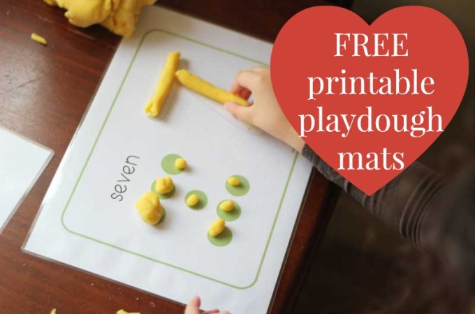 5 Free Printable Playdough Mats