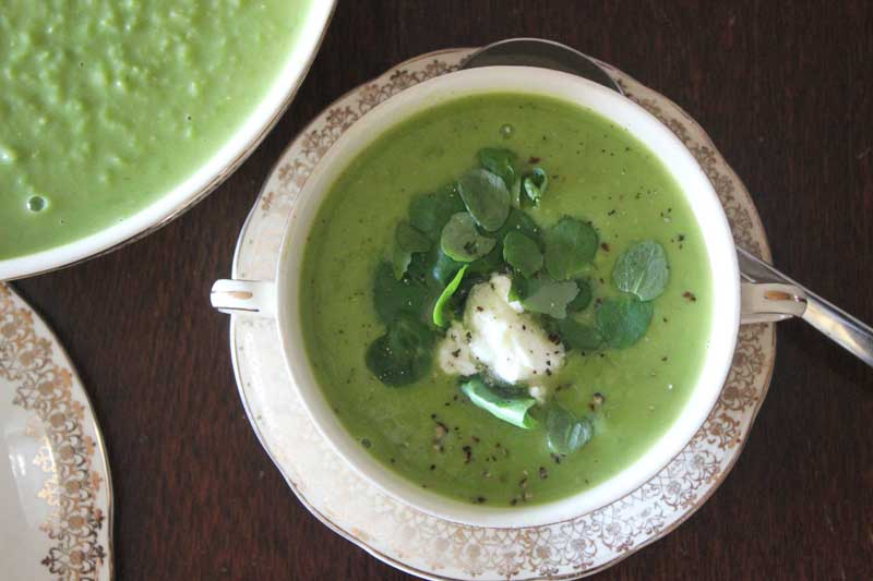 Minted-pea-and-watercress-soup