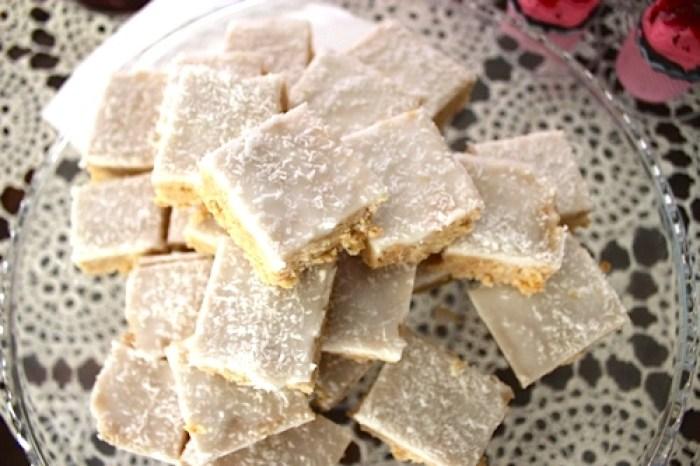 Lemon Coconut Slice, an 80s favourite! | Veggie Mama