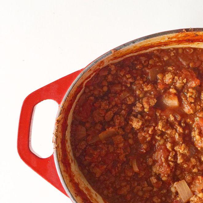 """Meaty"" vegetarian lasagne for the nostalgic among us! / theveggiemama.com"